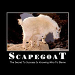 Thank you for making me the scapegoat
